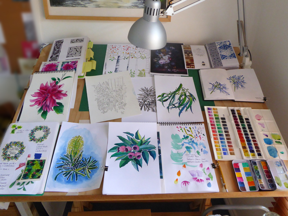 Karen Smith - what's on my drawing board this week? Dec 16 2016