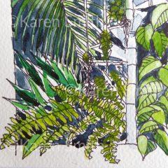 Palm House Watercolour ©Karen Smith