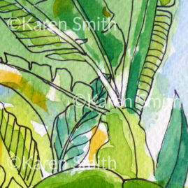 Palm House Watercolour ©Karen Smith