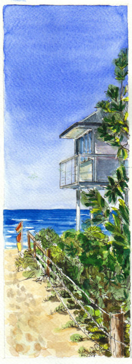 #WorldWatercolor Month July18 Killcare Beach