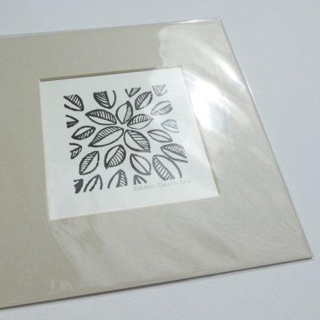 Mounted Woodblock Print - Leaf Cluster