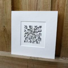 Mounted Woodblock Print -Leaf Cluster ©KarenSmith