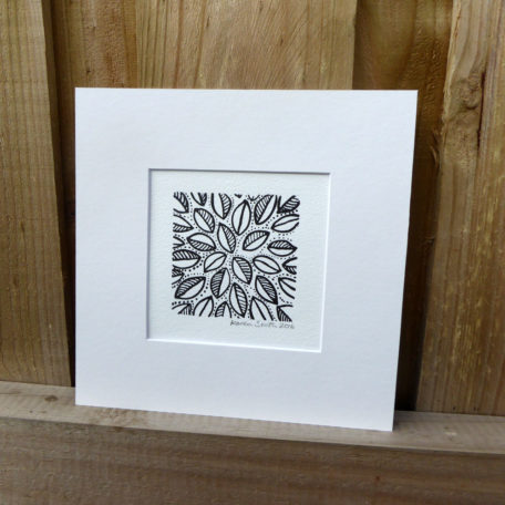 Mounted Woodblock Print -Small Leaf Cluster ©KarenSmith