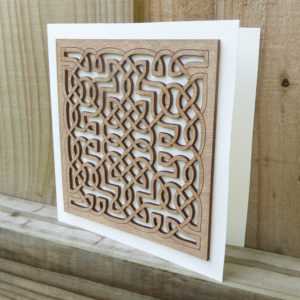Lasercut Celtic Card ©KarenSmith