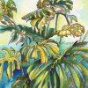 Tropical Leaf Greeting Card - Monsteras 4 ©KarenSmith