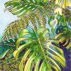 Tropical Leaf Greeting Card - Monsteras 7 ©KarenSmith