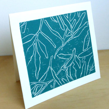 Gum Leaf Shadows Card ©KarenSmith