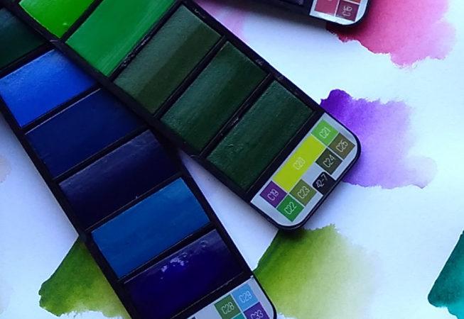 Swivelpaints - each paint pan 15mm x 30mm