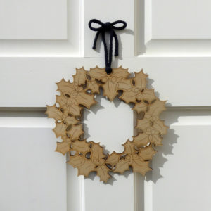 Press out Holly Wreath ©KarenSmith