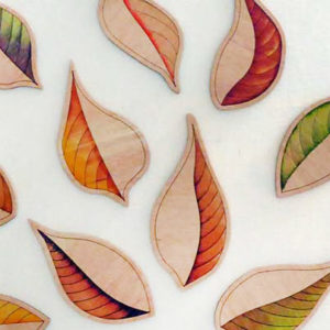 Leaves On Canvas ©KarenSmith