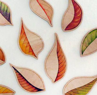 Leaves On Canvas ©KarenSmith