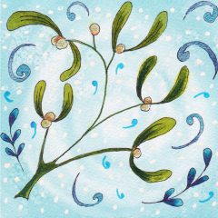 Mistletoe Christmas Card ©KarenSmith