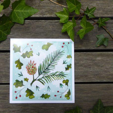 Pine Cone Christmas Card ©KarenSmith