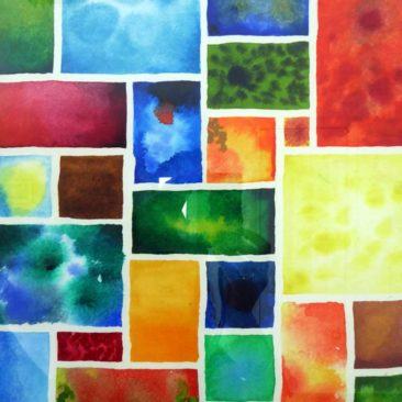 abstract watercolour mosaic 1 © KarenSmith