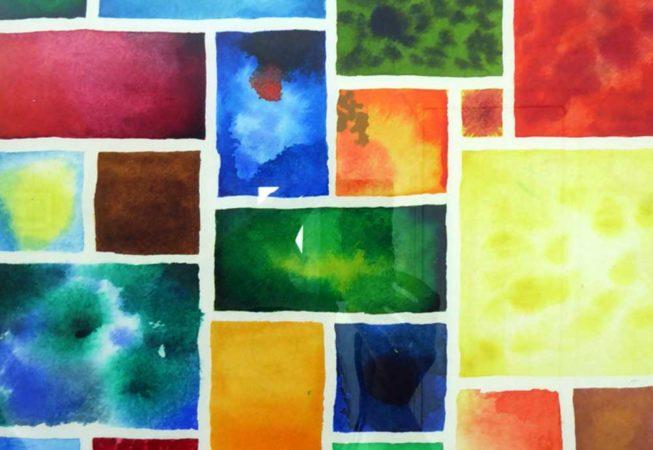 abstract watercolour mosaic 1 © KarenSmith