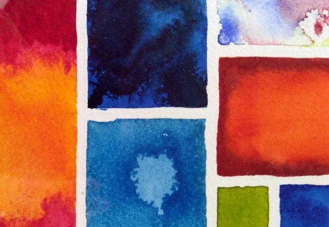 abstract watercolour mosaic 2 © KarenSmith