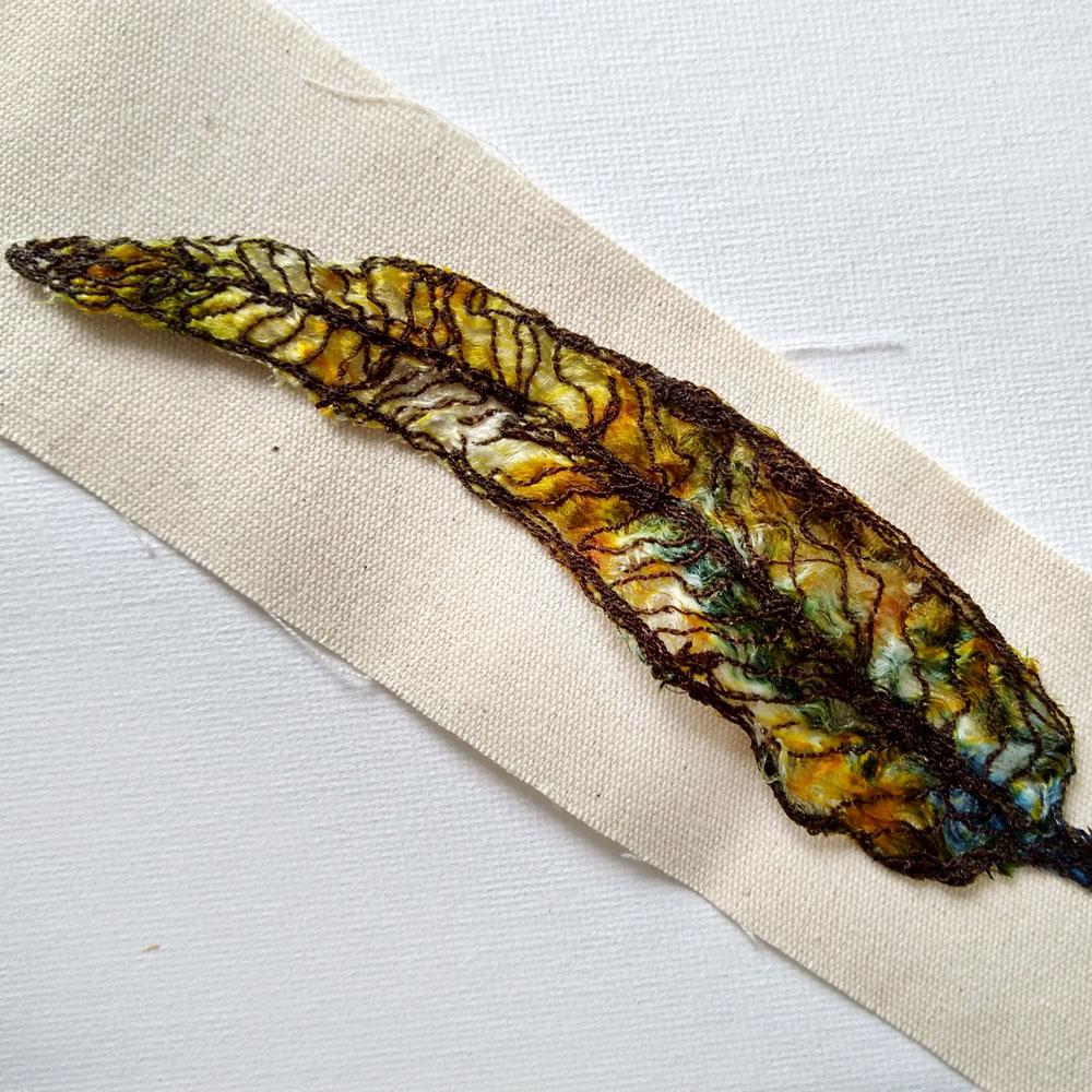 embroidered gum leaf 11 ©KarenSmith