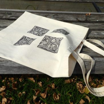 tote bag woodblock ©KarenSmith
