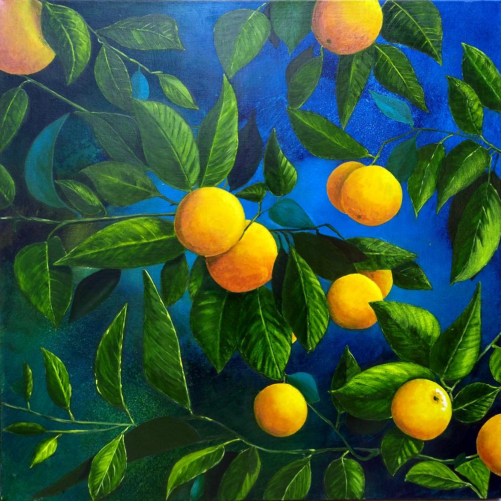 Oranges Acrylic Canvas ©KarenSmith