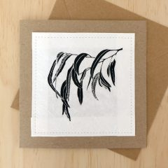 GumLeaves Woodblock Card 1 ©KarenSmith