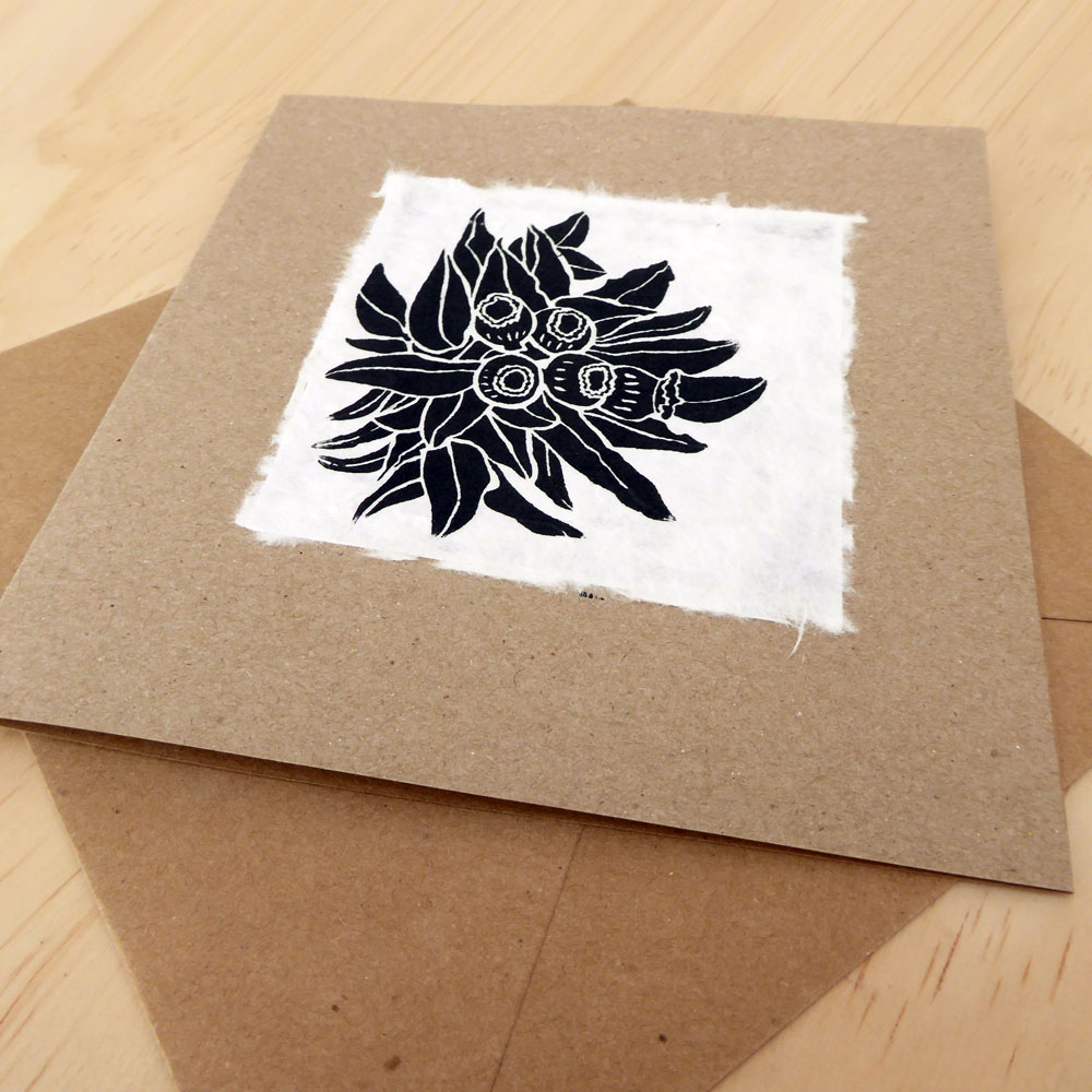GumNuts Woodblock Card 3 ©KarenSmith
