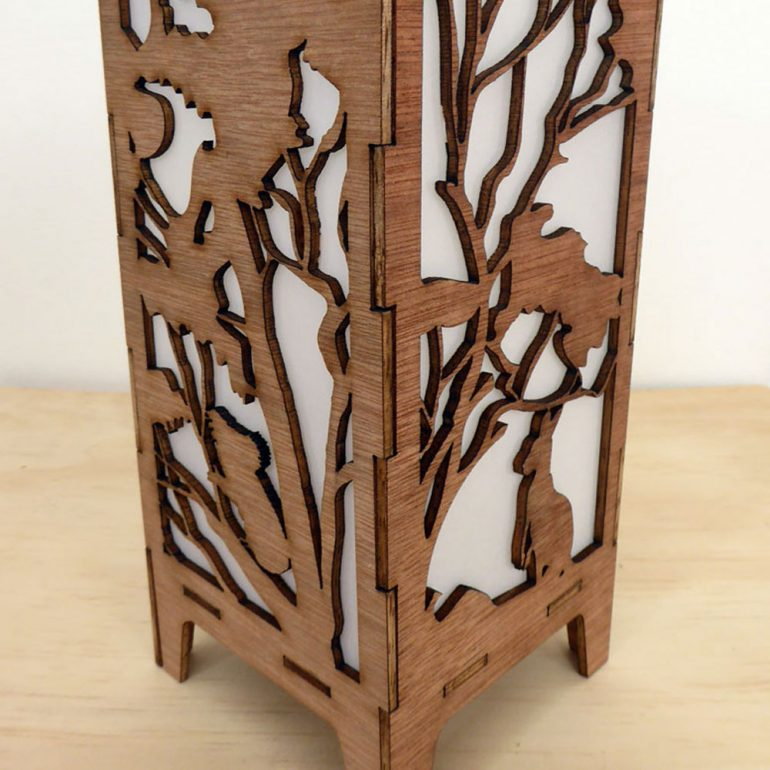 Australian Bush Animals open laser cut box
