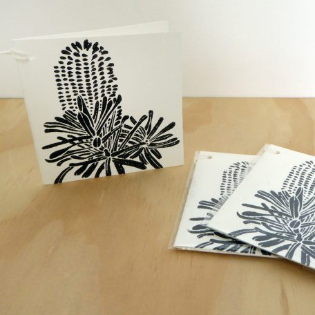 Gift Card Banksia Woodblock Print ©Karen Smith