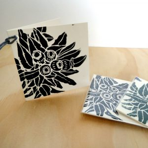 Gum Nuts Woodblock Gift Cards – Pack of 3 FREE SHIPPING!