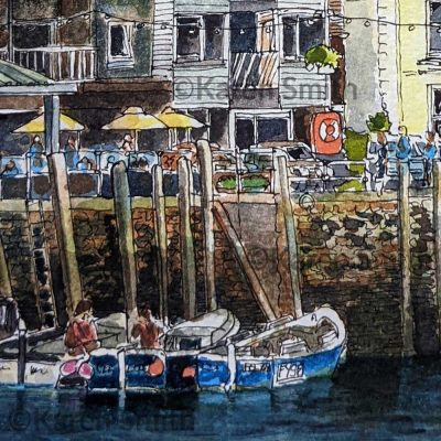 Watercolour Painting Looe, Cornwall ©KarenSmith