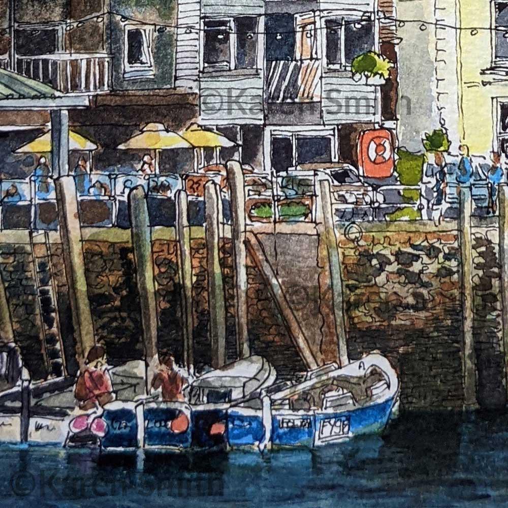 Watercolour Painting Looe, Cornwall ©KarenSmith